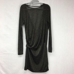 Ted Baker Black Ethia Sparkle Lurex Layered Dress